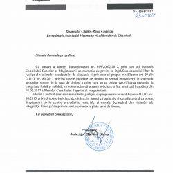 Adresa pentru modificarea OUG 80:2013 privind taxele judiciarea de timbru
